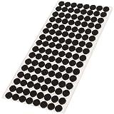 Adsamm® | 128 x viltglijders | Ø 12 mm | zwart | rond | 3,5 mm dikke zelfklevende vilten meubelglijders van topkwaliteit
