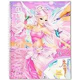 Depesche-DP-0011430 Libro Create Your Fantasy Model, Aprox. 29 x 23 cm, 78 páginas para Colorear y Pegar, Incluye 175 Pegatin