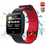 CatShin Fitness Tracker Fitnessuhr-CS04 IP68 Fitness Armband Smartwatch Wasserdicht Armband Sport Uhr Activity Tracker für Damen Herren Schrittzähler Blutdruck Pulsmesser-Android/IOS