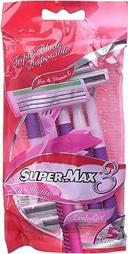 Supermax Women Triple Blade Pack of 5 Razor
