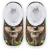 linomo Lindas zapatillas de perezoso para mujer, pantuflas de casa para mujer, zapatos de casa, zapatos de dormitorio, calcet