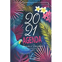 2021 Agenda Janvier à Décembre: 12 Mois Journalier - Planificateur, Semainier Simple & Pratique | Cadeau pour les Mamans…