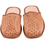 Men`s Handmade Leather Slippers 100% Natural Leather Size UK 6,7,8,9,10,11,12 (UK