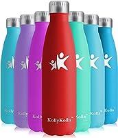 KollyKolla Bottiglia Acqua in Acciaio Inox - 350/500/650/750ml, Senza BPA, Borraccia Termica Isolamento Sottovuoto a...