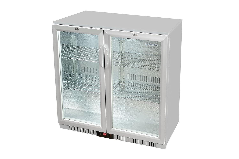 Glastür-Kühlschrank 90 x 90 x 52 cm silber   Getränkekühlschrank ...