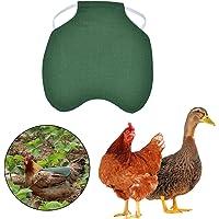 Selle de Poulet Protection Dorsale en Plumes de Tablier de Protection de Poule à Double Couche avec Sangles Élastiques…