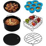 Cosori Accessoires de Friteuse sans Huile 5,5 Litre, Plateau à Pizza/Corbeille à Pain/Support en Métal/Moule à Cake/Grille de