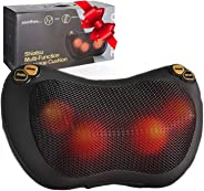 Zuzuro Shiatsu Pillow Massager with Heat – Electric Pillow Back & Neck Massager for Stress Relief & Ultimate Relaxation; Lowe