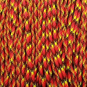 550 Paracord Seil 4mm Type III Commercial 7 faserig 30m / 100ft FIREBALL