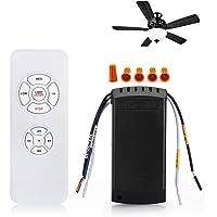 QIACHIP Sans Fil Ventilateur Télécommande Kit Universel Avec 4 Timing 3 Vitesses De Ventilateur De Plafond Pendentif…