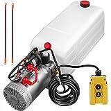 OldFe 12V Hydraulikpumpe 2,0 GPM Hydraulikpumpe Einfachwirkend 6 Liter Hydraulikpumpe Kipperpumpe