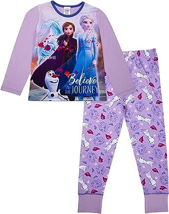 Disney Girls Frozen Pyjamas Anna Elsa Olaf Girls Pjs Ages 3 to 12 Years Old