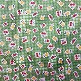 Stoff Meterware Baumwolle bedruckt mit Zeichnungen Obst auf