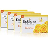 Enchanteur Charming Perfumed Soap with Rose, Muguet & Citrus For All Skin Types, 75g, Pack of 4