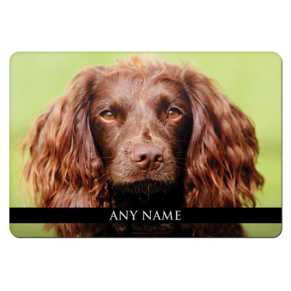 Personalised Field Spaniel Dog Animal Pet Bowl Feeding Mat 118