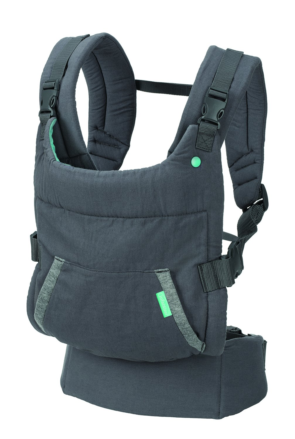 Infantino Cuddle Up Ergonomic Hoodie Carrier, Grey Infantino Fully safety tested Carries children from 12-40lbs (5.4 - 18.1 kgs) 2