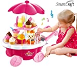 smartcraft Ice Cream Play Cart Kitchen Set Toy with Lights and Music, Small