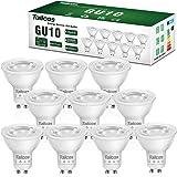 Ampoules GU10 Led, 7W Équivalent Spots Halogene 50W, Blanc Chaud 3000K 500lm AC 220-240V Non Dimmable Sans Scintillement Spot