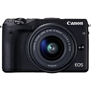 Canon EOS M3 - Cámara Evil de 24.2 MP (Enfoque automático, máxima resolución a 4,2 fps, Pantalla táctil, WiFi, NFS), Negro - Kit con Cuerpo y Objetivo EF-S 15-45 STM