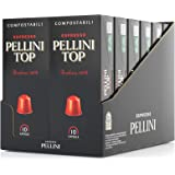 Pellini Caffè, Espresso Top 100% Arabica, Capsules auto-protégées COMPOSTABLES et compatibles avec machines Nespresso - Pack