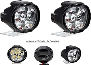 A2D L3C 6 LED 6000k Cree LED Transformer Bumble Bee Style Car LED Fog Light Lamp Assembly Small Set of 2 White-Fiat Palio