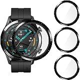 CAVN Skyddsfilm Kompatibelt med Huawei Watch GT 2 46mm, (inte tillämpligt på Watch GT 2e), [3-pack] med Grader Skärmskydd, He