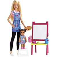 Barbie Careers - Art Teacher Playset with Doll, Toddler Doll, Easel & Themed Accessories