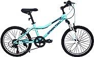Spartan 20 inch Azure MTB Bicycle - Light Blue & Black