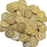 Elfen und Zwerge - Goldmünzen - Goldtaler für Piratenschatz - Schatz - Deko & Mitgebsel Kindergeburtstag - 144 Stück