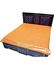 AMVONZ Waterproof PVC Double Bed Mattress Protector Plastic Bed Sheet (6 feet x 6.5 feet, Gold)