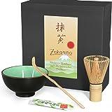 Aricola Matcha-Set 3-teilig moosgrün,bestehend aus Matcha-Schale, Matcha-Löffel und Matcha-Besen (Bambus) in Geschenkbox. Original