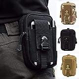 HoYiXi Bolsa de Cintura Multifuncional Riñonera Táctica Bolso de Cinturón con Bolsillo de Teléfono para Ciclismo Escalada Pes