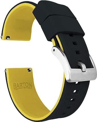 Barton Elite Bracelet de montre en silicone à libération rapide Couleur au choix 18 mm, 19 mm, 20 mm, 21 mm, 22 mm, 23 mm et 24 mm