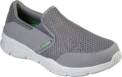 Skechers Men's Slip-on Loafer grey Size: 10.5 UK