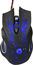 Pirates Global High Precision Gaming Mouse, Multi-Coloured Six Key Mouse for Better Gaming Experience, Resolution 1000dpi-1600dpi-2400dpi-3200dpi