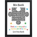 Personalised Teacher Gift - Puzzle Piece Thank You Gifts for School Teacher, TA, Nursery, Leaving Gift - Gifts for Teachers,