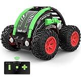 tech rc Mini Voiture Télécommandée 4WD, Stunt Car avec Batterie Rechargeable 360 Degré Rotation, RC Voiture Jouet de Garçons