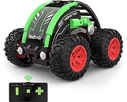 Mini Auto telecomandata 4WD con Batteria Ricaricabile Integrata RC Auto Telecomando Acrobatica RC Stunt Car 2.4GHz Macchina R