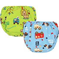 MooMoo Baby Swim Diapers 2pcs Adjustable and Reusable Swimpants for Baby, 0-3Y, 10-50 lbs Swimmers-XL