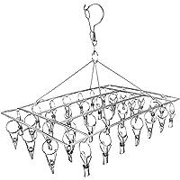 Skroad Stendibiancheria con 36 Pinze, in Acciaio Inox, Mollette Antivento per Asciugare,Vestiti Biancheria Intima…