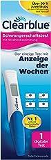 Clearblue Schwangerschaftstest, mit Anzeige der Wochen, 1 digitaler Test, 1er Pack (1 x 1 Stück)