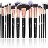 Pennelli Make Up BESTOPE Pennelli per il Trucco Set di 16 Pennelli per il Make-up Professionali, Eyeliner, Ombretto, Sopracci