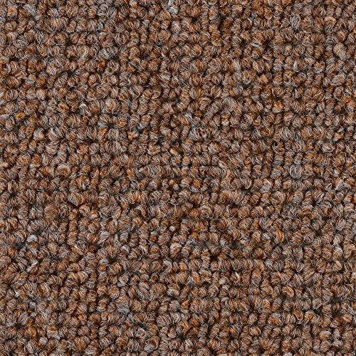 Teppichboden Auslegware | Schlinge gemustert | 400 und 500 cm Breite | hell-braun | Meterware, verschiedene Größen | Größe: 4 x 5m