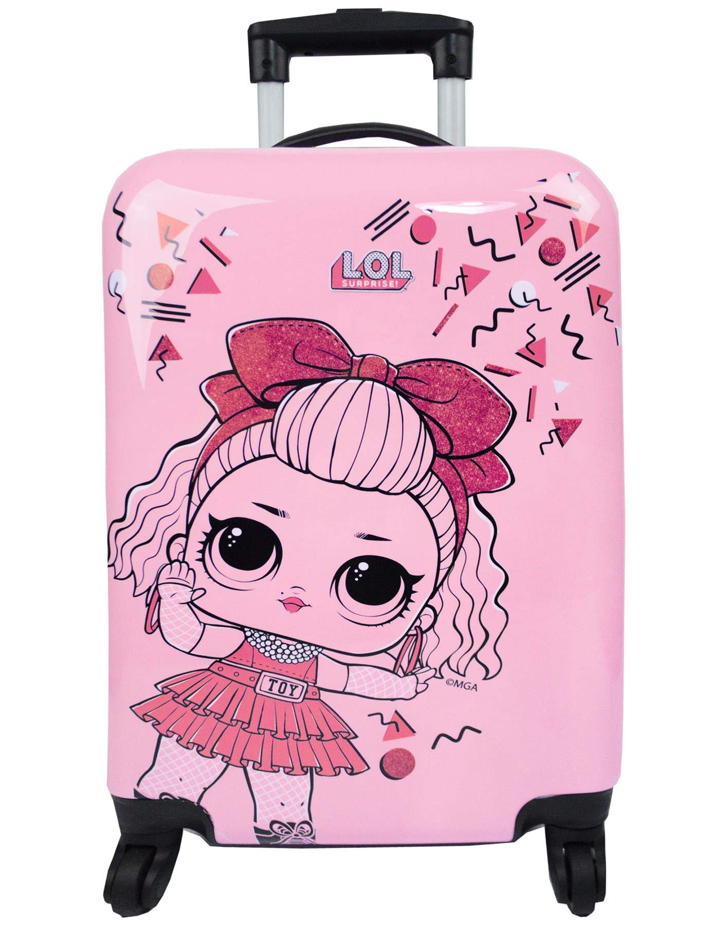 LOL-berraschung-Kinder-Mdchen-Rosa-Hard-Cover-Carry-on-Trolley-Koffer-Gepck