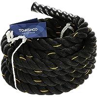 TOMSHOO Battle Rope Schwungseil Schlachtseil 10M/12M /15M Trainingsseil Sportseil Schlagseil für Sprung- Kletterübungen oder Tauziehen