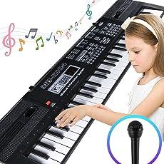 Tastiera Elettronica Portatile bambini con 61 Tasti Pianoforte Multifunzione, Pianoforte Musicale Bambino Musicale Tastiera Elettronica per Bambini Regalo Bambini