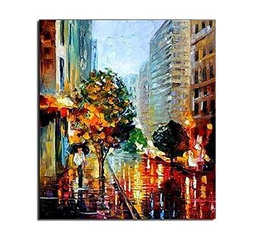 Tableau Ville Rue de New York City Street of NY Peinture à l\'Huile ...