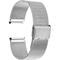 "TRUMiRR Cinturino per orologio da 18 mm, in acciaio inox, per Huawei 1./Ehre S1, Asus Zenwatch 2 Donna 1.45"" WI502Q…"