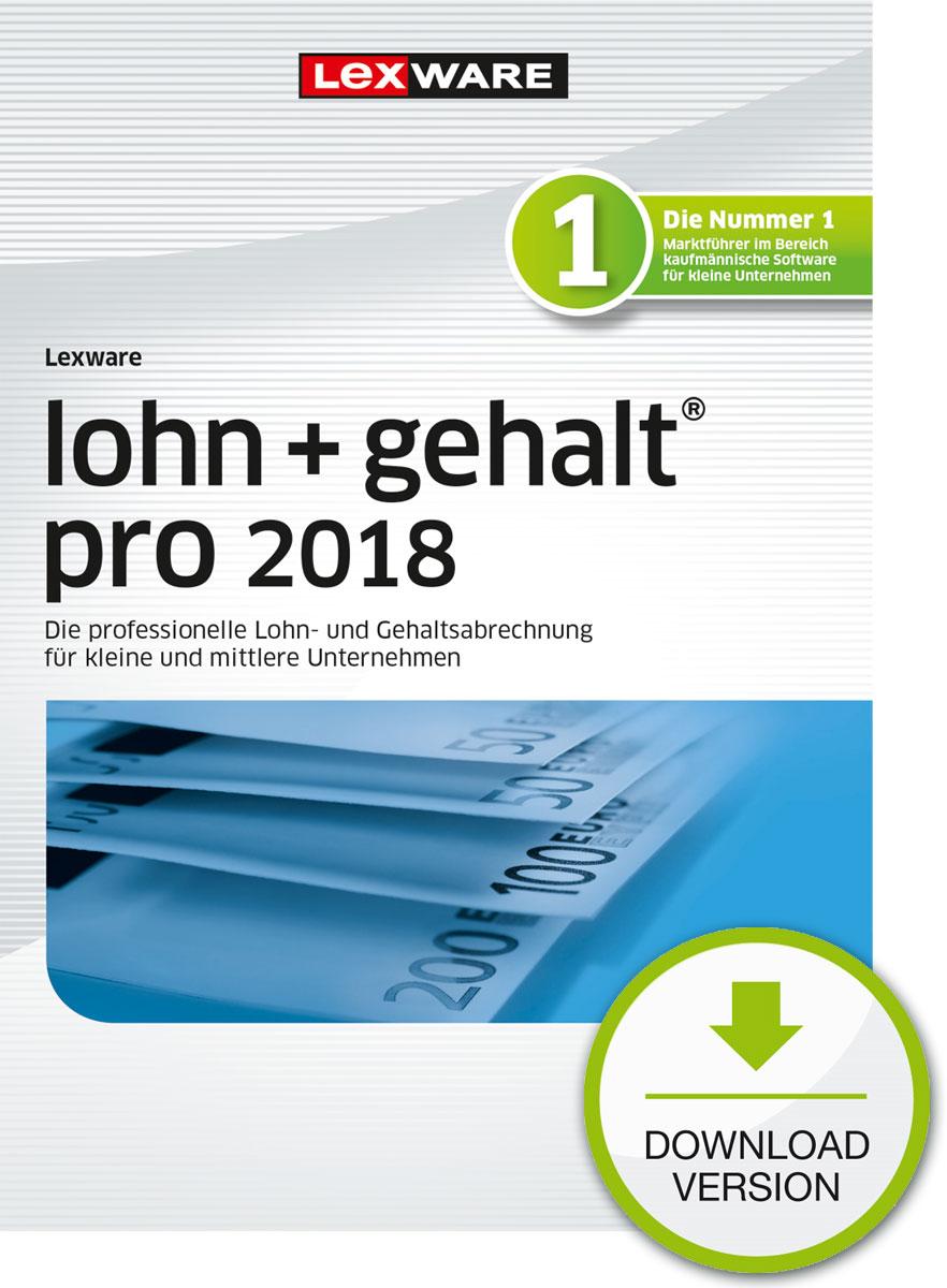 Lexware lohn+gehalt pro 2018 Download Jahresversion (365-Tage) [Online Code]