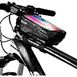 Borsa Telaio Bici Porta Cellulare, Impermeabile Manubrio per Borse Biciclette Touch Screen, Supporto Bici MTB, Accessori Bici